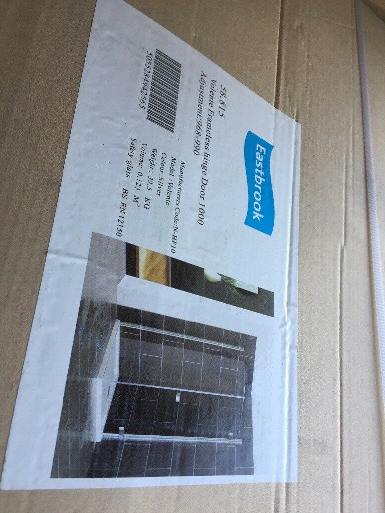 Eastbrook 2 sided shower enclosure for 1000 x 750 corner tray   in ...