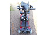 Mobility Mercury Prism 4 Travel Scooter (colour red)