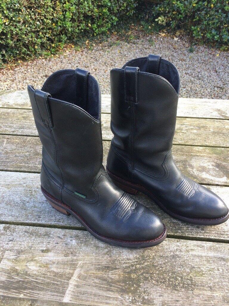 Men's Black Dan Post Albuquerque Waterproof Leather Boots