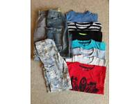 Bundle of Boys Summer Clothes, Age 4-5 (10 Items)