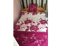 Double bed with mattress like new