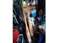 Pair of wooden oars