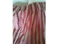 Red curtain ( lined) (220cm width and 268cm height per curtain)