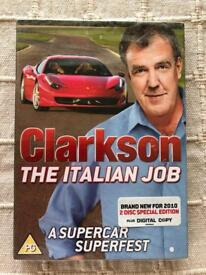 Clarkson. The Italian Job dvd. New and sealed