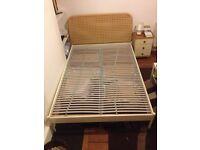 Ikea Redalen Rattan double bed frame