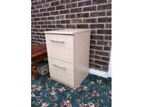 Wooden Filing Cabinet Two Draws