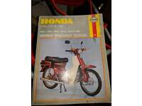 Haynes manual for Honda C50 C70 C90 scooter