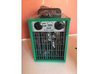 Greenhouse electric 2kW fan heater