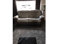 Holgate 3 Seater Recliner Leather Sofa and 2 x Leather Electric Recliner chairs
