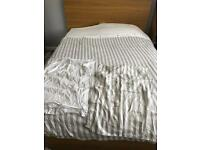 King size 100% cotton duvet cover grey white taupe