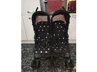 Zeta twin stroller.