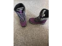 Ladies purple mountain warehouse snow boots size 6