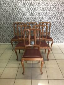6 chairs Oak French style