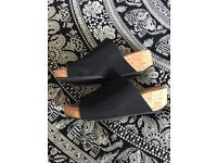 DKNY wedge mules size 6