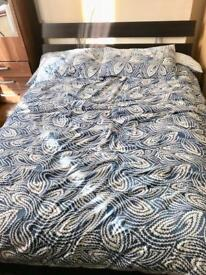 Ikea Double Bed with Orthopaedic Double Mattress (Used)