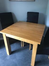 Table and x4 chairs