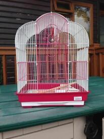 Pink bird cage