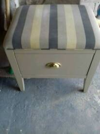 Foot stool cabinet drawer draw handy