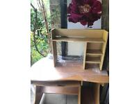 Used Desk and Shelving [BRADFORD AREA]