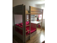 Nordic Single High Sleeper Bed with Desk and Sofa, Great Little Trading Company.