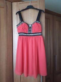 Lipsy chiffon dress Size 10