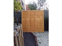 2 x 6ft by6 fence panels