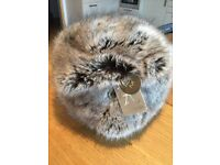 Accessorize womens faux fur cossack hat grey (mink) BNWT