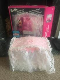 Rare vintage Barbie Starlight Bed