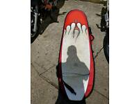 7'6 minimal surfboard