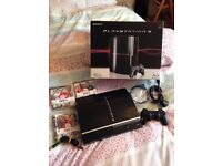 ps3 console 40gb boxed with games like new only used a few times