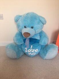 Nice blue big teddy bear