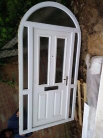 Brand New Front Door Pre-Finished White Oak with Stained Glass | in ...