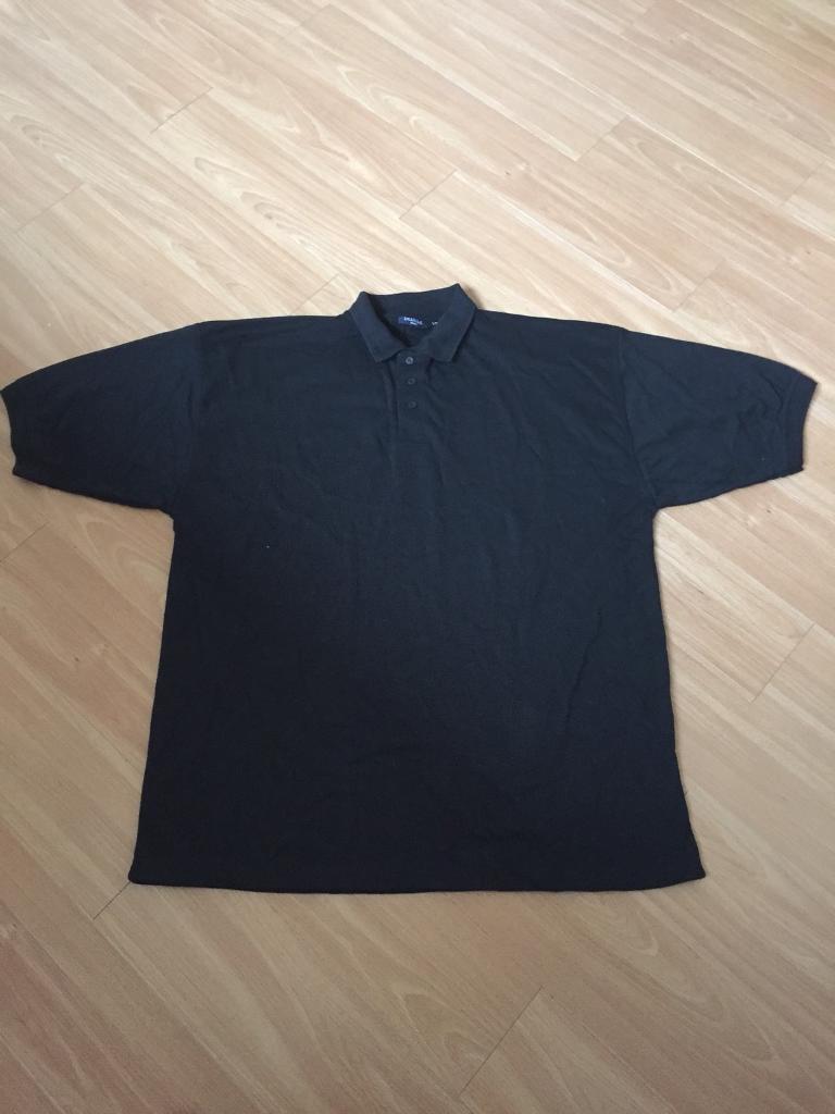 Black polo shirt size 4xl *new*