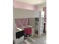 Girl's Bunk bed and storage cupboard