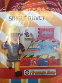 Fireman Sam's single duvet set