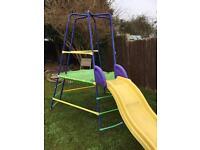 Elc slide and climbing frame