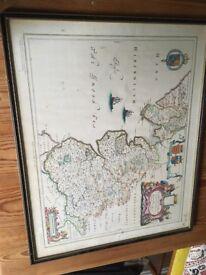 Old map Lancashire