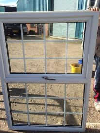 Used Three in total UPVC windows 2 clear glass 1 obscure 1060 mm wide by 1500 mm high