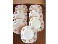 """Royal Worcester Evesham """"Vale"""" 6"""" Side Sandwich Plates x 7 guilded floral pattern Genuine Vintage £7"""