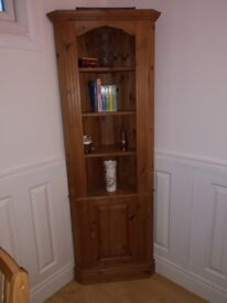 Pine corner cabinet tall 50 % off today only