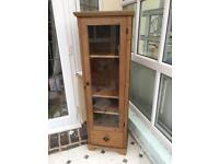 Ikea glass-fronted display cabinet