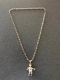 9ct gold Chains with pendants together 72.80 grams