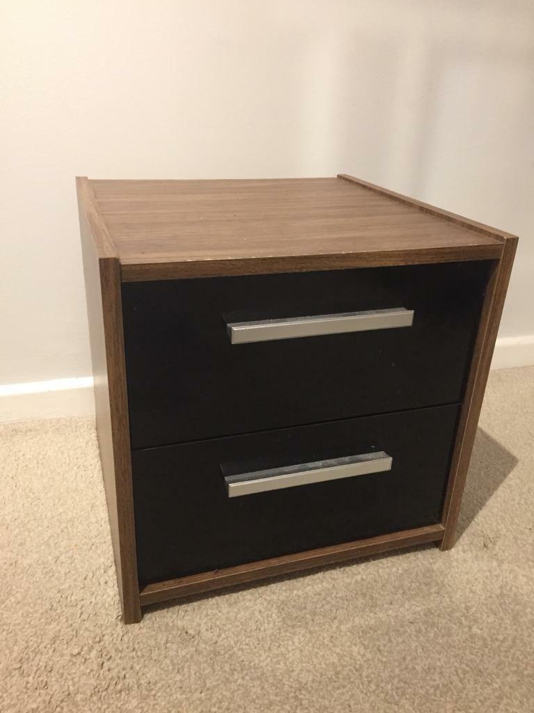 brand new 077a0 098ef (B) Ikea black and brown beside table drawers | in Wirral, Merseyside |  Gumtree