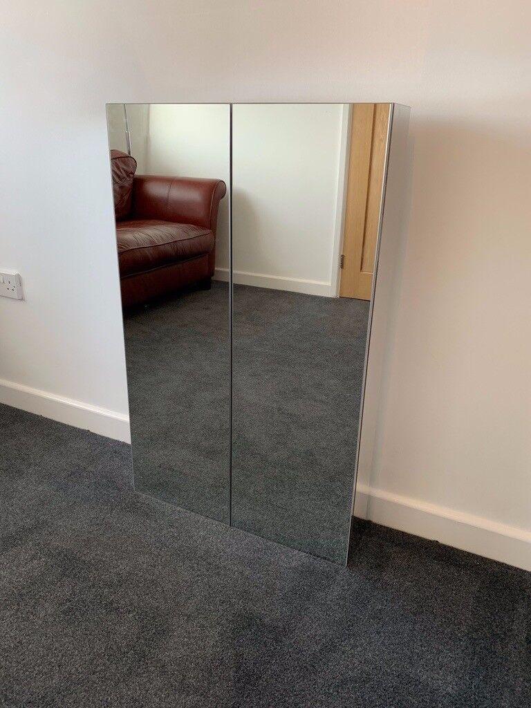 ikea godmorgon bathroom mirror cabinet with 2 doors in. Black Bedroom Furniture Sets. Home Design Ideas