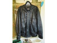 "Leather Jacket Mens size M 38-40"" chest, used but good condition"