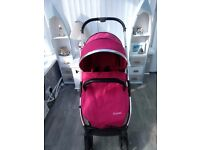 Babystyle Oyster 2 Mirror Finish Pushchair (Red)