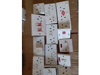 Assorted used front socket plates