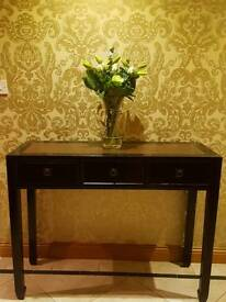 Console table with matching telephone table