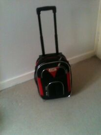 Small wheelie suitcase.