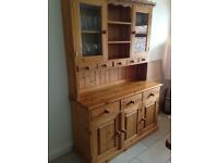 Pine sideboard and dresser